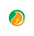 circle eco electric business logo vector image