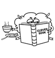 Clever book vector image