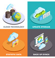 cloud service concept isometric composition vector image