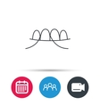 Dental floss icon Teeth cleaning sign vector image vector image