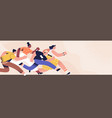 diverse people running fast to success vector image