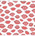 doodles trace seamless pattern with red woman vector image