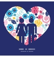 fairytale flowers couple in love vector image vector image