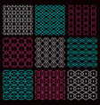 Fine seamless patterns vector image