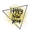 happy 2020 new year card with hand lettering vector image