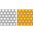 honey seamless pattern with honeycomb vector image