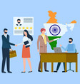 indian cooperation and work global business vector image vector image