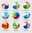 inflatable beach ball set of multi-colored vector image