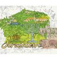 Jerusalem doodles vector image