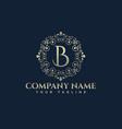 luxury logo b latter logo vector image vector image