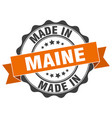 made in maine round seal vector image vector image
