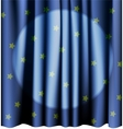 Magic blue curtain for the stage Editable meshes vector image