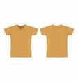 mens mustard t shirt vector image vector image