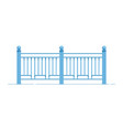 metal fence in flat style vector image