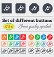 mirror ball disco icon sign Big set of colorful vector image