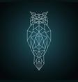owl in geometric style wild bird vector image vector image