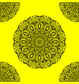 pattern mandala decoration vector image