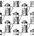 pattern with french press vector image