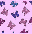 pattern with ornamental butterflies vector image vector image