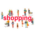 people buy with shopping bags with purchases vector image