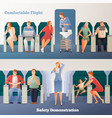 people in airplane horizontal banners vector image vector image
