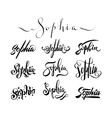 Personal name tattoo Sophia