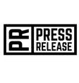 press release stamp vector image vector image