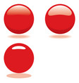 red ball template for buttons or icons vector image