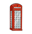 red telephone box sketch vector image
