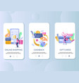 retail rewards mobile app onboarding screens vector image