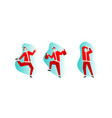 santa claus in red costume happy dancing vector image