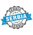 serbia round ribbon seal vector image vector image