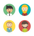 set avatars men of different diversity inside vector image vector image