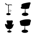 set of modern and antique furniture comfortable vector image vector image