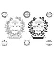 set of round classical emblems vector image