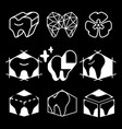 silhouettes icon of teeth for dental clinic logo vector image