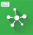 social network molecule dna icon business concept vector image vector image