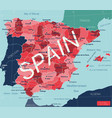 spain country detailed editable map vector image vector image