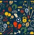 sport sketch pattern hand drawn vector image vector image