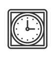 square wall clock icon outline design editable vector image