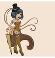 steampunk women vector image