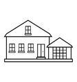 Suburban american house icon outline style vector image vector image