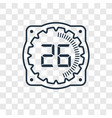 time concept linear icon isolated on transparent vector image vector image