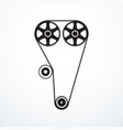 timing belt icon vector image
