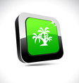 tropical 3d square button vector image vector image