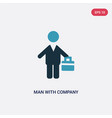 two color man with company icon from people vector image vector image
