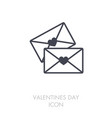 two envelope icon love letter vector image vector image