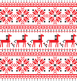 Ukrainian folk art embroidery horse pattern vector image vector image