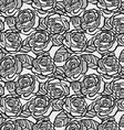 Vintage seamless background of gray roses vector image vector image