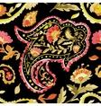 Watercolor paisley seamless pattern vector image vector image